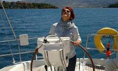 on the helm