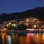 Attraction of night colours in Kalkan.