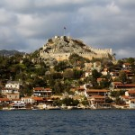 Kekova castle from the sea.